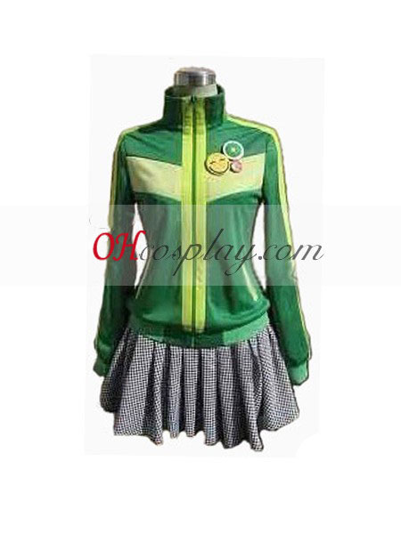 Persona 4 Chie Green udklædning Kostume