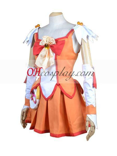 Кегср красивия Smile PreCure Hino Akane(водни слънчев) Cosplay костюм