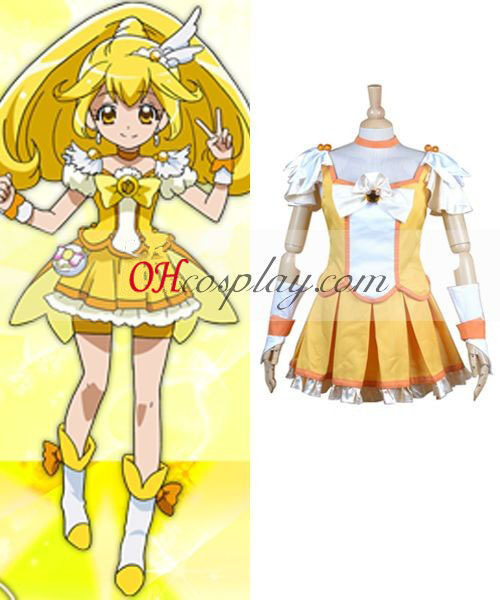 Pretty Cure Smile Precure Kise Yayoi (Cure Peace) Cosplay Kostym