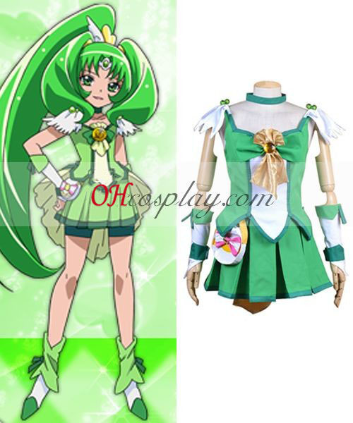Pretty Cure Smile Precure Midorikawa Nao (Cure mars) Cosplay Kostym