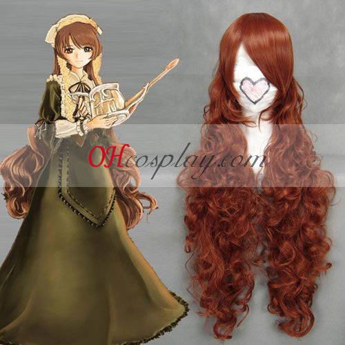 Rozen Maiden Jade Stern Red Brown Cosplay Wave Wig
