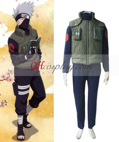 Naruto Leaf Village Komoha Kakashi Battle Cosplay Costume