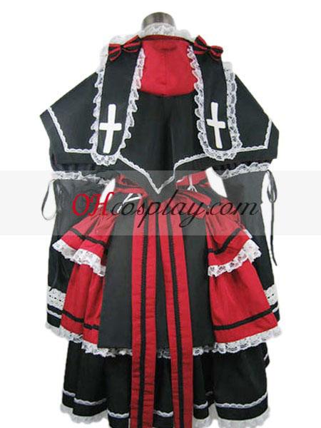 Rozen моминско Лолита черно Cosplay костюм