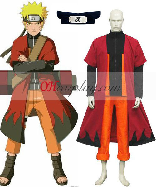 Naruto Shippuuden Uzumaki Naruto Sage Cosplay kostyme