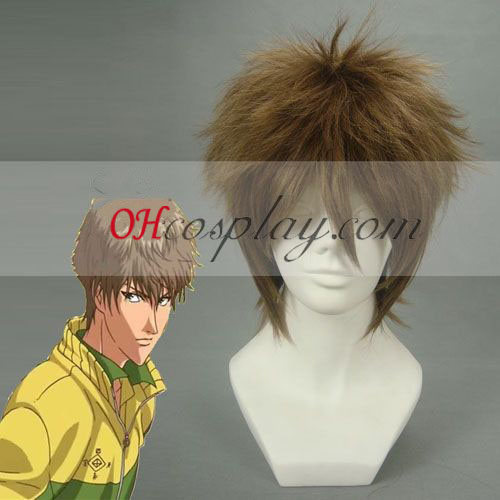 The Prince among Tennis Oshitari Kenya Brown Cosplay Wig