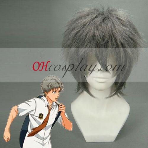 Принцът на тенис Otori Cyotaroh сив Cosplay Wig