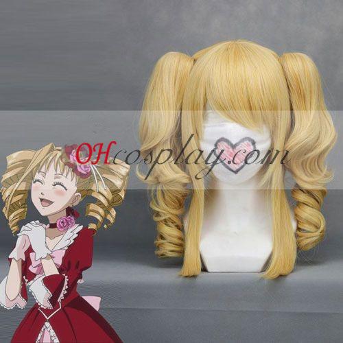 Umineko Ushiromiya Jessica жълт Cosplay вълна Wig