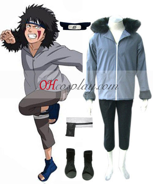 Naruto Kiba Inuzuka 1st udklædning Kostume Set