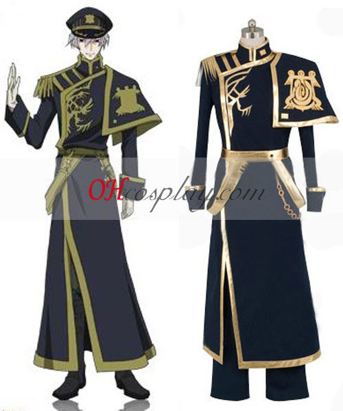 07-GHOST Ayanami Barsburg Empire Uniform Cosplay Kostym