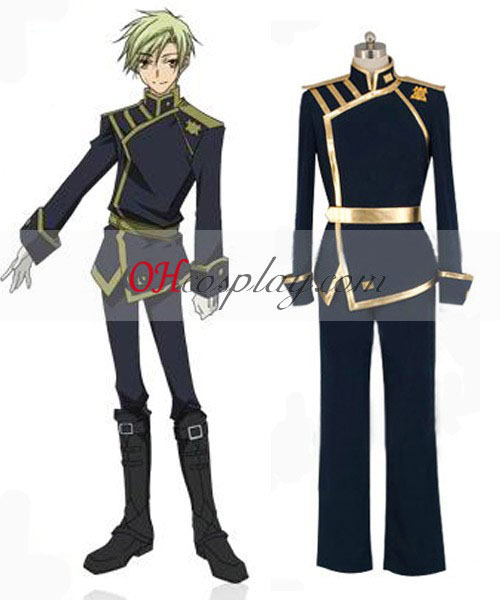 07-Ghost Mikage Barsburg Empire Uniform Cosplay Kostym