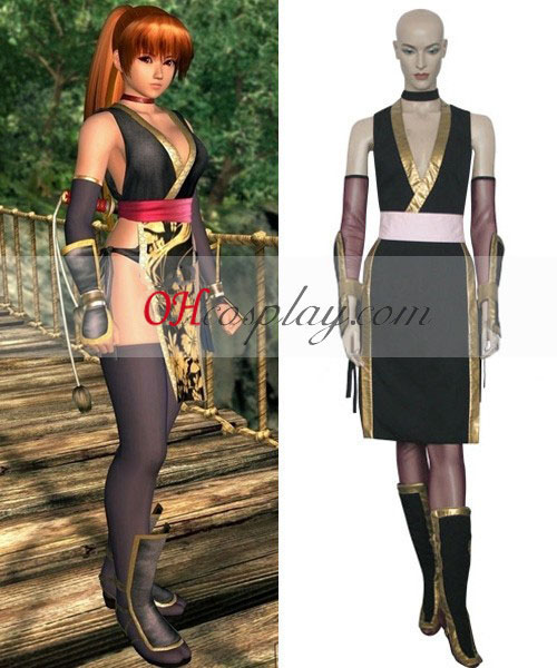 Dead or Alive Kasumi (Black) Costume Carnaval Cosplay