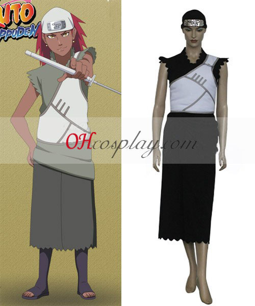 Naruto Shippuuden Team Cloud Karui Cosplay Costume