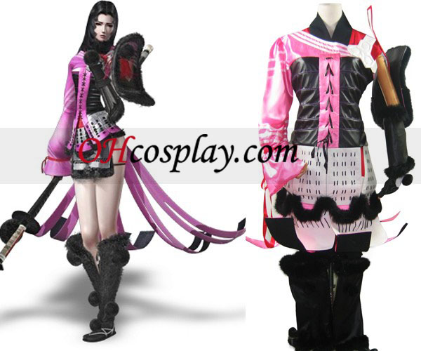 Devil Kings Sanguko Basara 2 Oichi Cosplay Kostym