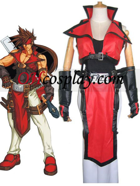 Guilty Gear Sol Badguy Cosplay kostyme