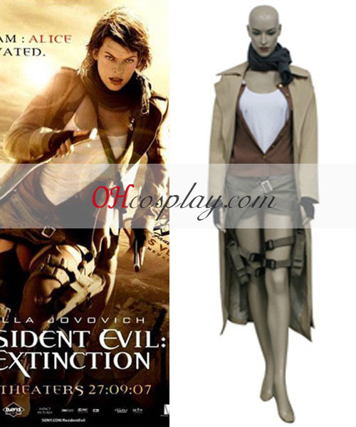 Resident Evil 3 Afterlife Movie Alice Cosplay Costume