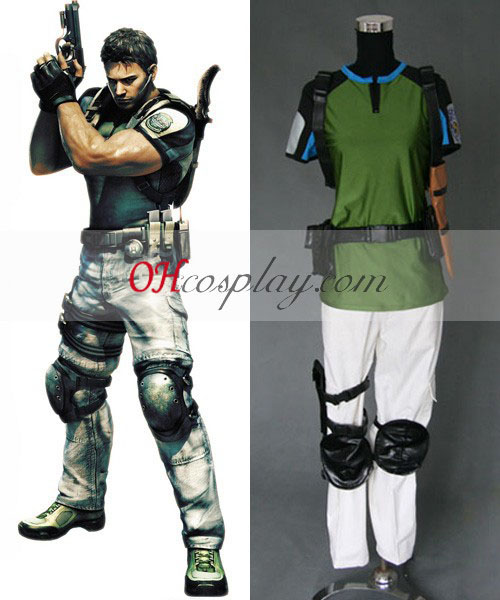 Resident Evil 5 Chris Redfield Costumi Carnevale Cosplay