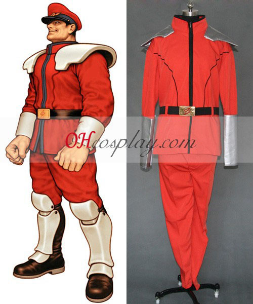 M. Bison Street Fighter Cosplay Traje