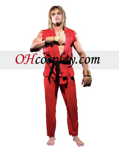 Street Fighter Ken Adult Cosplay Halloween Costume Buy Online