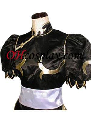 -Стрит истребитель Chun Li черный костюм анимэ