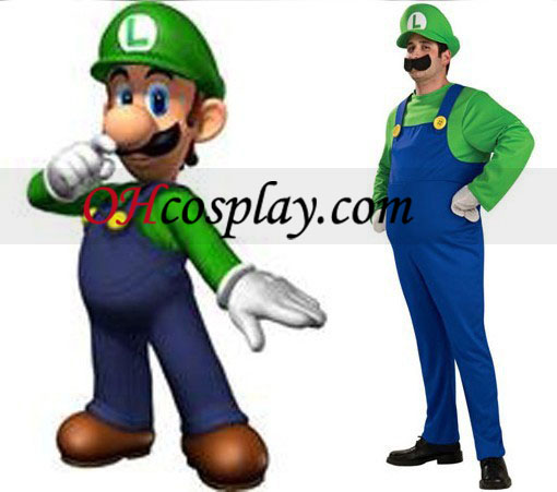Super Mario Bros Luigi Mario Adult Costumes