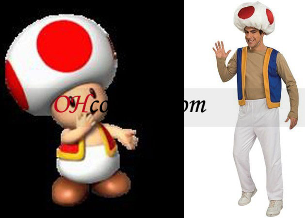 Super Mario Bros toad traje adulto