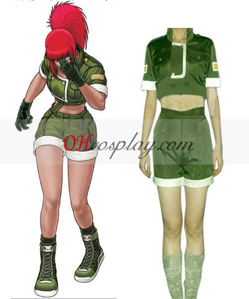 The King from you Fighters' Leona Cosplay Costume