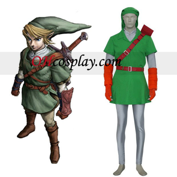The Legend of Zelda Link Cosplay Kostym