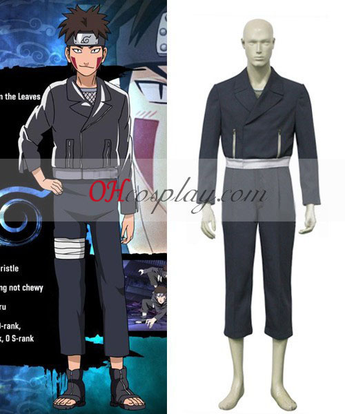 Naruto Shippuden Kiba Inuzuka udklædning Kostume