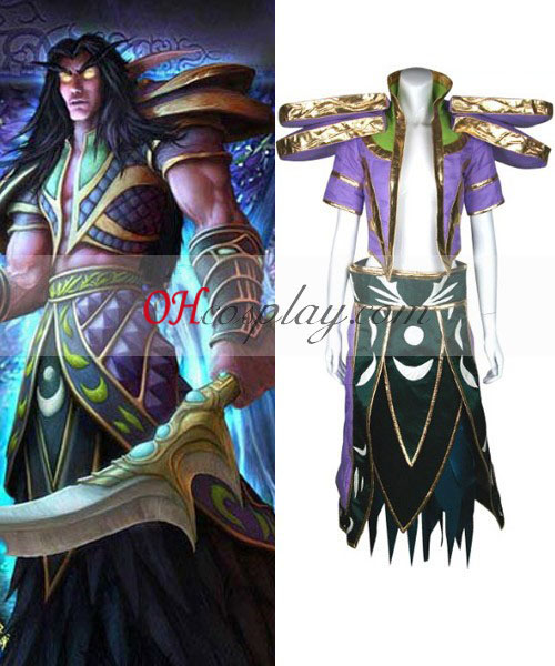 World of Warcraft Night Elf Cosplay Kostym