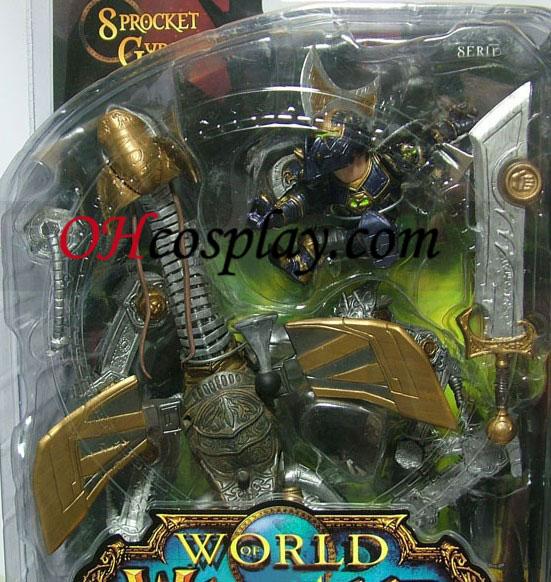 World of Warcraft DC Ubegrænset Series 2 Action Figure Gnome Warrior [Sprocket Gyrospring]