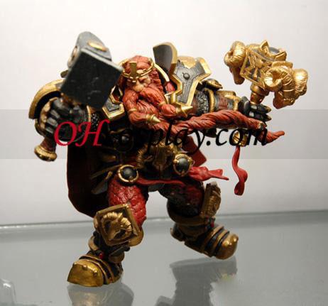 World of Warcraft DC Ubegrænset serie 6 Action Figure Magni Bronzebeard [Dwarven konge]