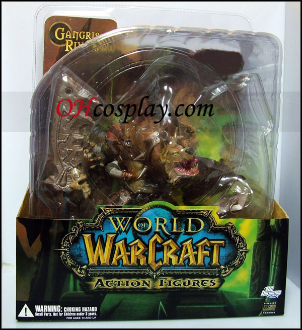 World of Warcraft Premium Series 1 Action Figure Gnoll Warlord Gangris Riverpaw