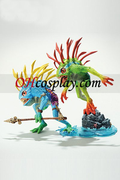 World of Warcraft DC illimité Série 4 Action Figure Murloc 2-Pack Fish-Eye & Gibbergil [Figure bleue en haut]