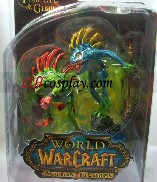 World of Warcraft DC Unlimited Series 4 Action Figure Murloc 2-Pack Fish-Eye & Gibbergil