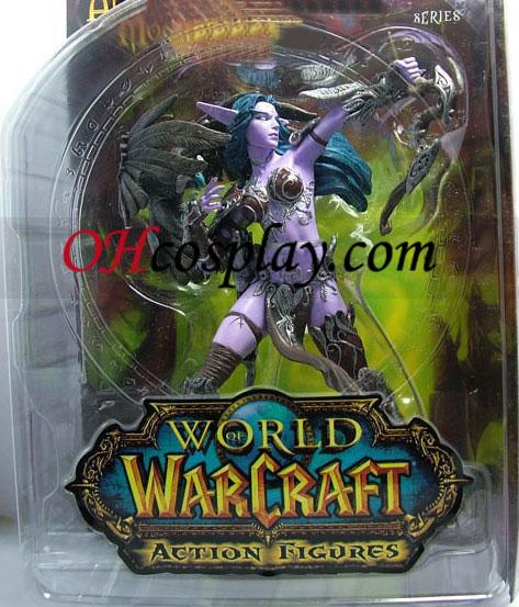 World of Warcraft DC Ubegrænset Series 5 Action Figure Alathena Moonbreeze med Sorna [Night Elf Hunter]