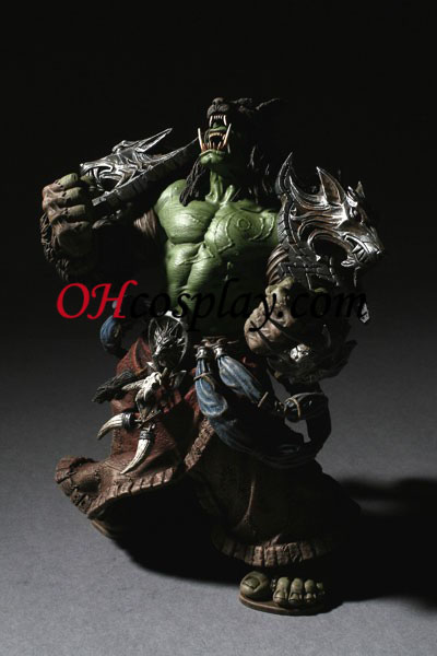 World installation for Warcraft DC Unlimited Series 1 Action Figure Orc Shaman [Rehgar Earthfury]