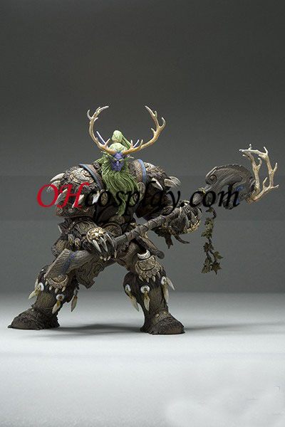 World of Warcraft DC Ubegrænset Series 2 Action figurer Night Elf Druid [Broll Bearmantle]