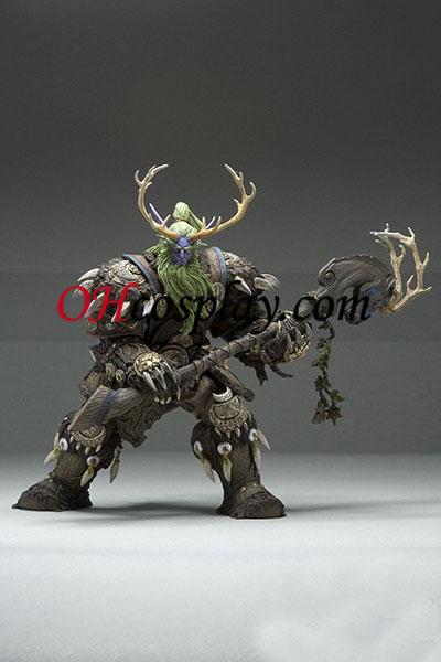 World of Warcraft DC Ubegrænset Series 2 Action figurer Night Elf Druid [Broll Bearmantle]