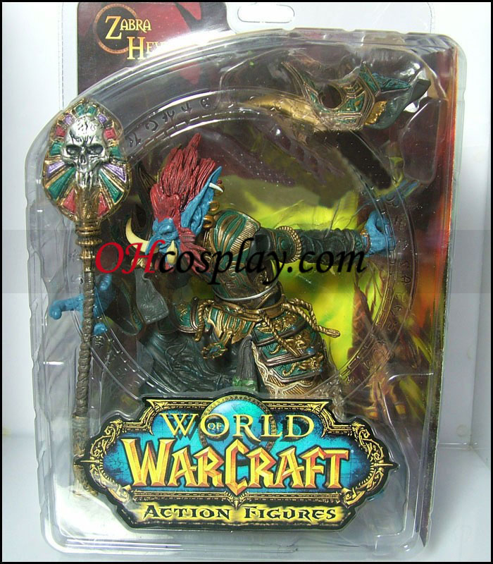 World of Warcraft DC Ubegrænset Series 2 Action figurer Troll Priest [Zabra Hexx]