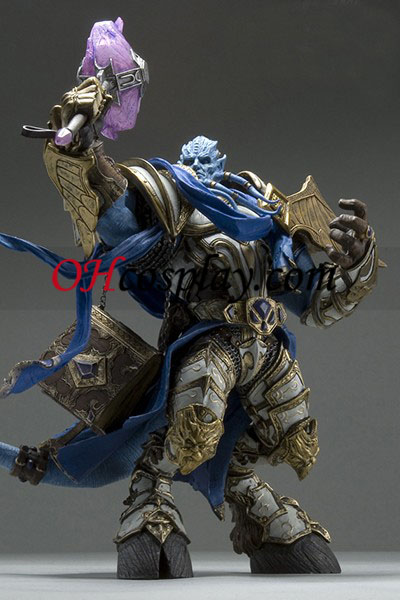 World of Warcraft DC Unlimited Series 2 Deluxe Boxed Action Figure Draenei Paladin Halloween Accessories