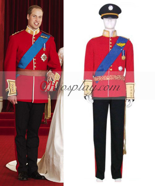 Príncipe William Casamento Cosplay Traje uniforme