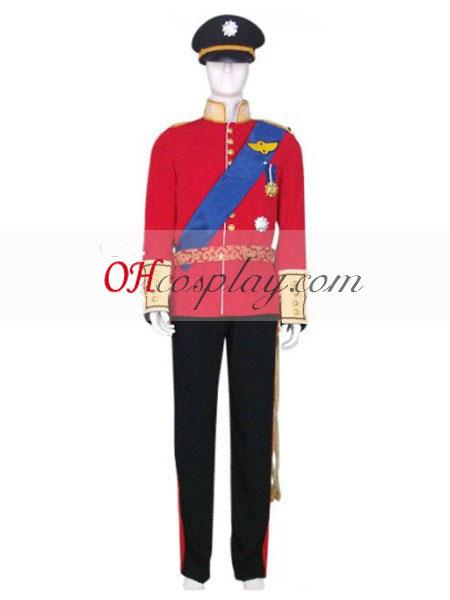Princ William Svadobné jednotné Cosplay kroj