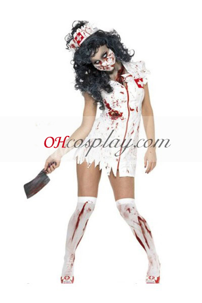 Halloween Nurse Cosplay Kostuum