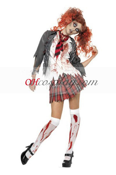 Halloween flicka Uniform Cosplay Kostym