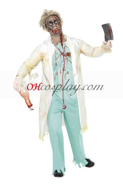 Halloween Doctor Cosplay Kostym