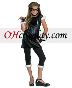Traje adolescente Negro Cat Girl Child /