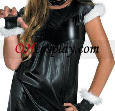 Черен Cat момиче дете/младеж костюм