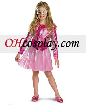 Pink Spider Girl Niño / Child Traje