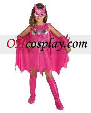 Pink Batgirl Child Kostume