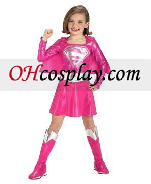 Pink Supergirl Toddler / Child Kostume
